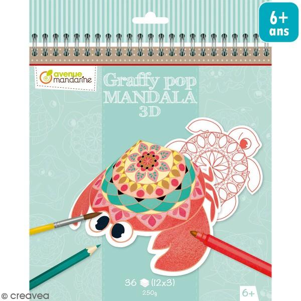 Coloriage 3D Graffy Pop - Mandala - 36 pages - Photo n°1