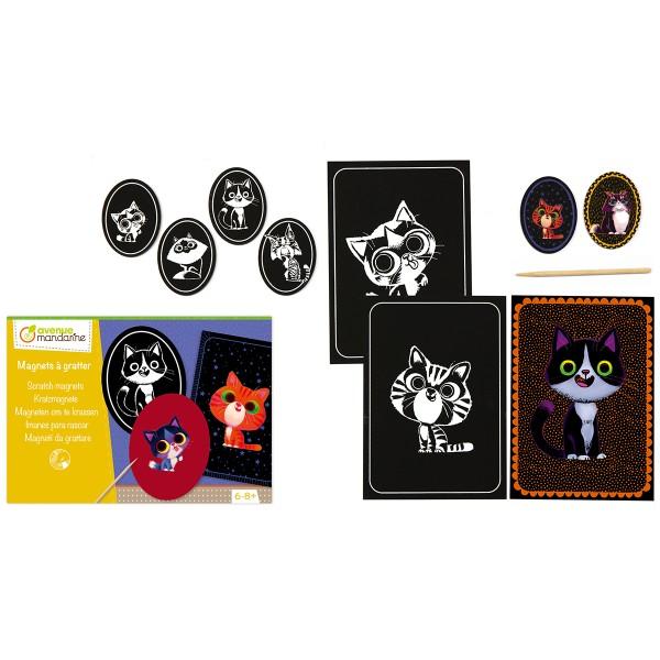 Kit créatif - Magnets chats à gratter - Photo n°2