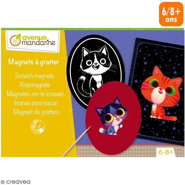 Kit créatif - Magnets chats à gratter - Photo n°1