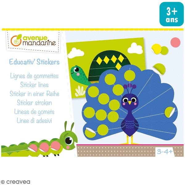 Kit créatif éducatif - Ligne de gommettes - Photo n°1