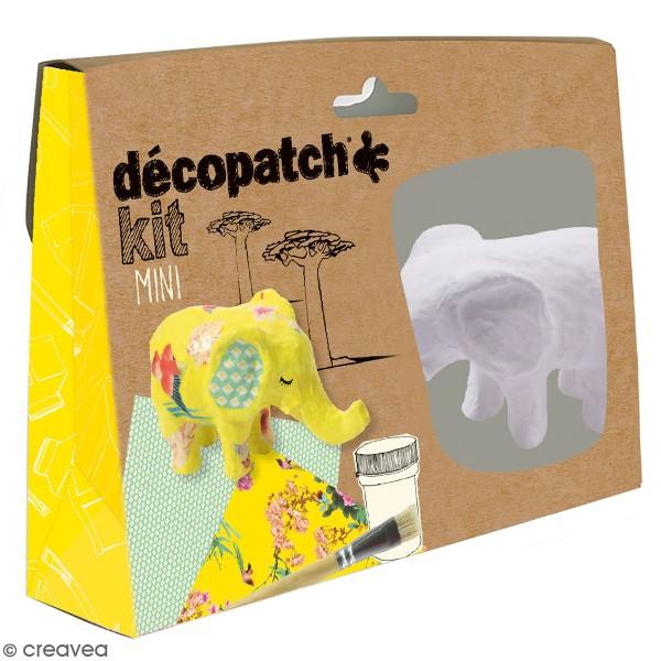 Mini kit créatif Welcome Décopatch - Elephant - Photo n°1