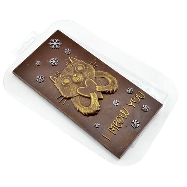 1pc Hiver Chat d'Amour de Noël, Coeur saint-Valentin en Plastique de Chocolat de Fabrication de Savo - Photo n°1