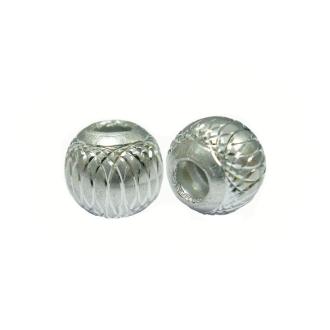 10 Perles Rondes 6mm Argent