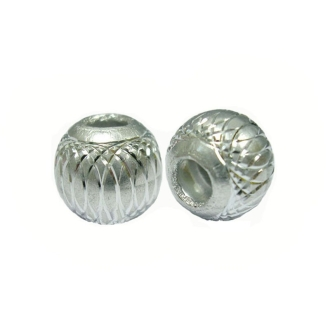 10 Perles Rondes 8mm Argent