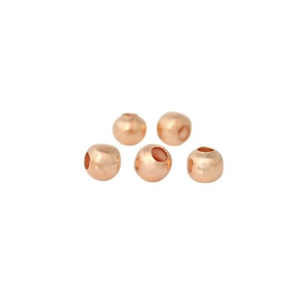 500 pièces perles 6mm avec trou couleur jaune