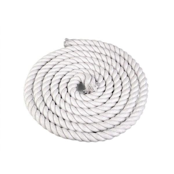 1m Blanc Tordu la Corde de Coton Pour Sac à main Poignée de Ø14mm Raide, Cordon Macrame, Cordon de l - Photo n°1