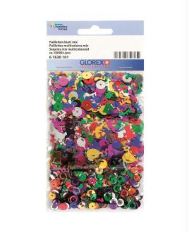 Assortiment de sequins et paillettes multicolores - Glorex - 1 000 pcs