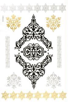 Tatouage temporaire Metallic Tattoos - Arabesques - 9 pcs