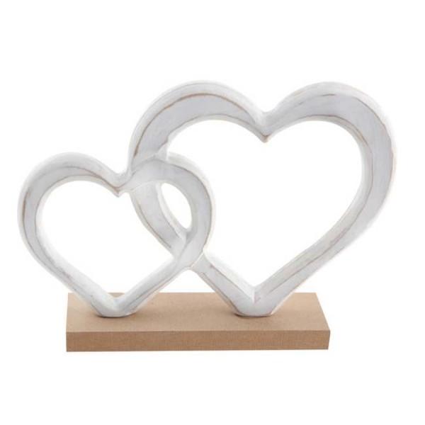 Centre de table mariage Coeurs blancs - Photo n°1