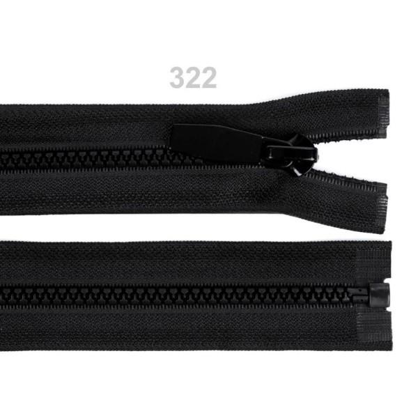 1pc Noir en Plastique / Vislon Largeur 5mm Longueur 70cm, Mouche à fermeture à Glissière, fermeture - Photo n°1