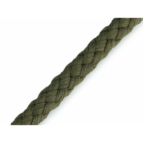 10m 4802 Vert Kaki en Coton corde / Chaîne Ø9mm, Cordon Macrame, Cordon de la Décoration, de la Moel - Photo n°1