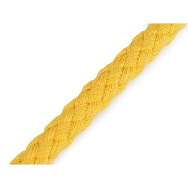 10m Jaune Coton corde / Chaîne Ø9mm, Cordon de Soutache, Cordon Macrame, Cordon de la Décoration, de - Photo n°1