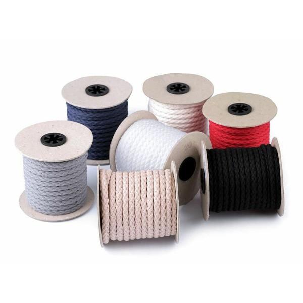 10m Ez00 Écru en Coton Léger corde / Chaîne Ø9mm, Cordon Macrame, Cordon de la Décoration, de la Moe - Photo n°1