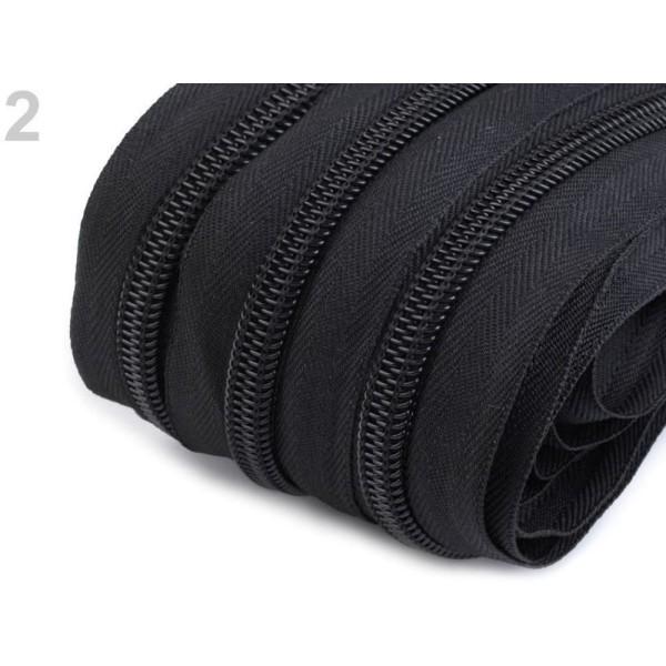25m 2 Noir Continue de Nylon fermeture éclair Largeur de 7mm, Jean fermeture à Glissière, Organisate - Photo n°1