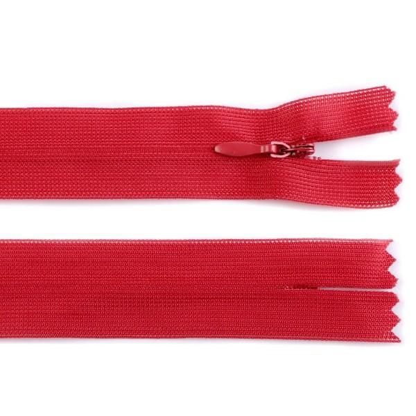 1pc 148 à Haut Risque Rouge Invisible en Nylon / Bobine de fermeture éclair Largeur de 3mm Longueur - Photo n°1