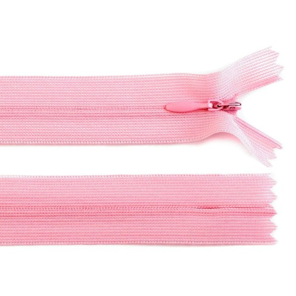 1pc 134gossamer Rose Invisible en Nylon / Bobine de fermeture éclair Largeur de 3mm Longueur 40cm De - Photo n°1