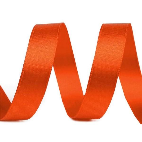20m 248 Orange Double Face Ruban de Satin Largeur 15mm, Rubans - Unique de la Couleur, de la Merceri - Photo n°1