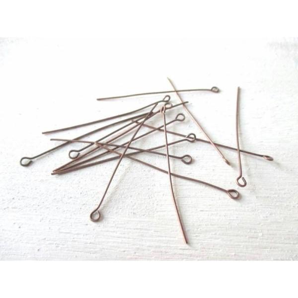 Lot de 20 clous Tiges à Têtes plates 3cm Doré pour Création de Bijoux
