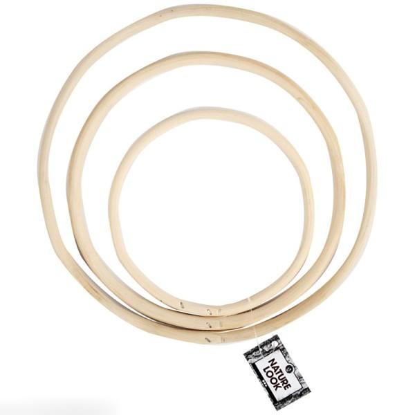 Cercles en bambou - de 15,3 à 25,5 cm - 3 pcs - Photo n°2