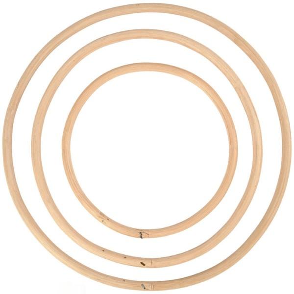 Cercles en bambou - de 15,3 à 25,5 cm - 3 pcs - Photo n°3