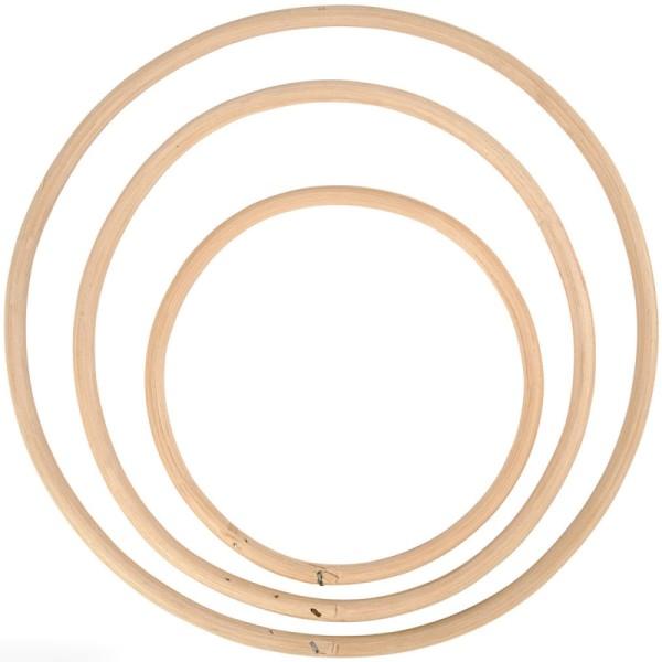 Cercles en bambou - de 15,3 à 25,5 cm - 3 pcs - Photo n°1