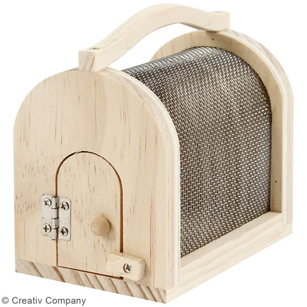 Boîte à insectes en pin - 11 x 7,5 x 10 cm - Photo n°3