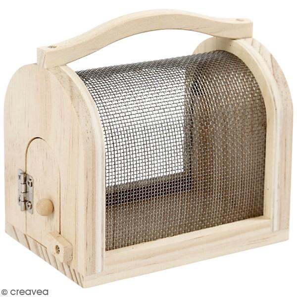 Boîte à insectes en pin - 11 x 7,5 x 10 cm - Photo n°1