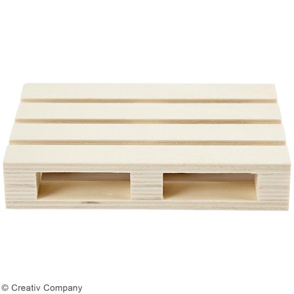 Mini palette en bois - 12 x 8 x 2,5 cm - Photo n°2
