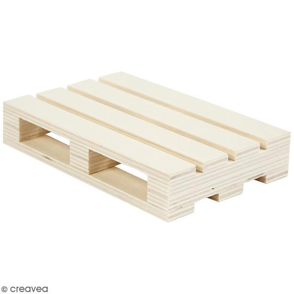 Mini palette en bois - 12 x 8 x 2,5 cm - Photo n°1