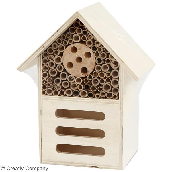 Maison à insectes en bois - 14 x 18 x 9 cm - Photo n°2