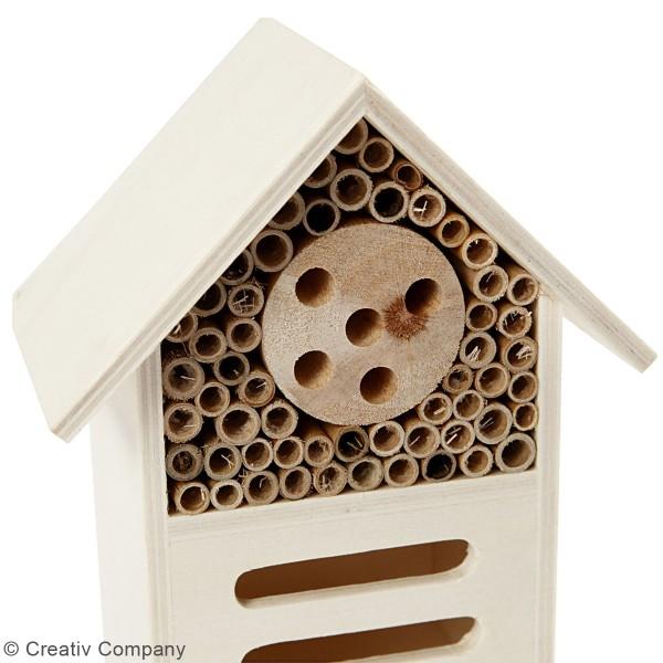 Maison à insectes en bois - 14 x 18 x 9 cm - Photo n°3