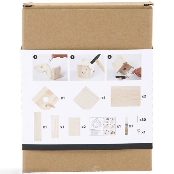 Nichoir à assembler et à décorer - 16 x 14,5 x 13 cm - Photo n°4