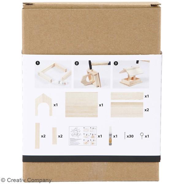 Mangeoire pour oiseaux à assembler - 14,5 x 12,5 x 11,5 cm - Photo n°4