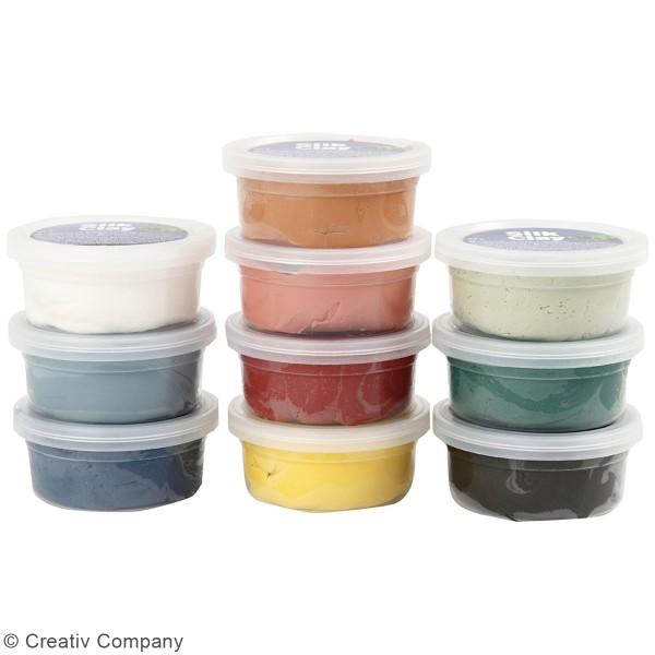 Assortiment de pâtes à modeler Silk Clay - 10 x 40 g - Photo n°3