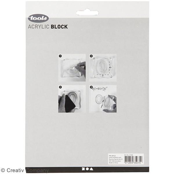 Assortiment de blocs acryliques pour tampons - de 2,5 à 16,5 cm - 4 pcs - Photo n°3