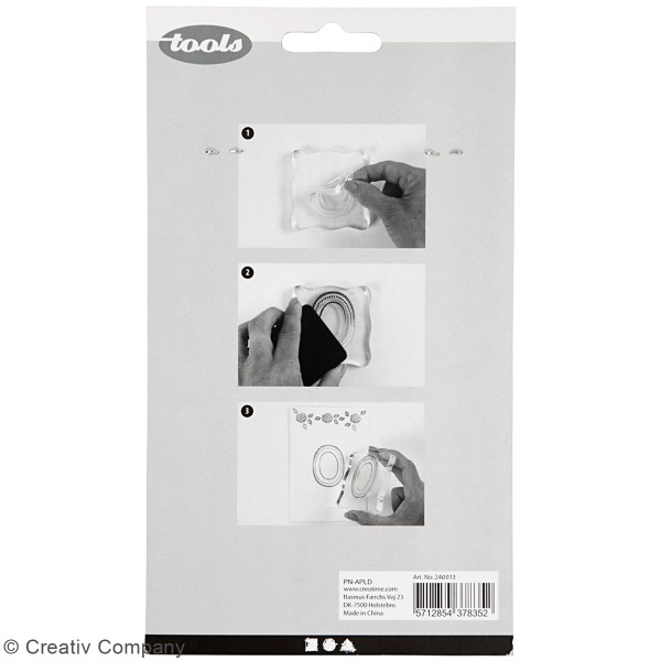 Set de tampons transparents - Coiffures - 4 pcs - Photo n°2