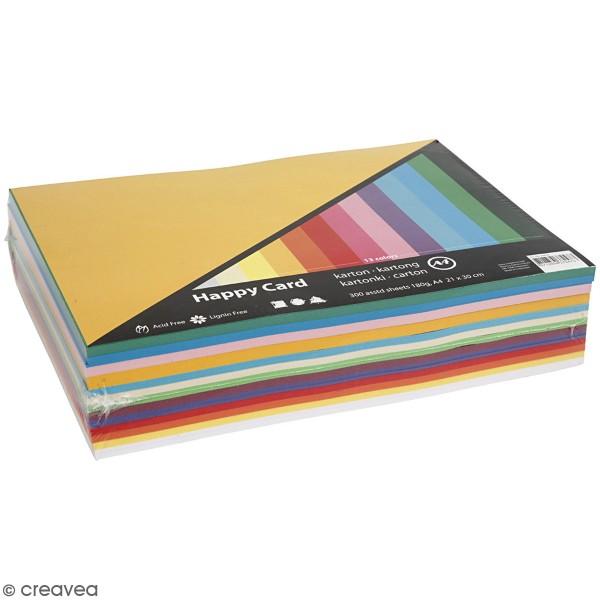 Papier cartonné A4 180 g - Couleurs de printemps - 300 feuilles - Photo n°1