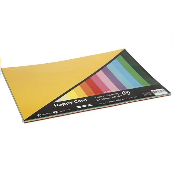 Papier cartonné A4 180 g - Couleurs de printemps - 30 feuilles - Photo n°1