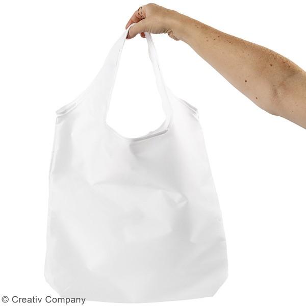 Sac en polyester blanc - 37 x 37 cm - Photo n°2