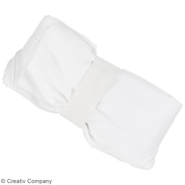 Sac en polyester blanc - 37 x 37 cm - Photo n°4