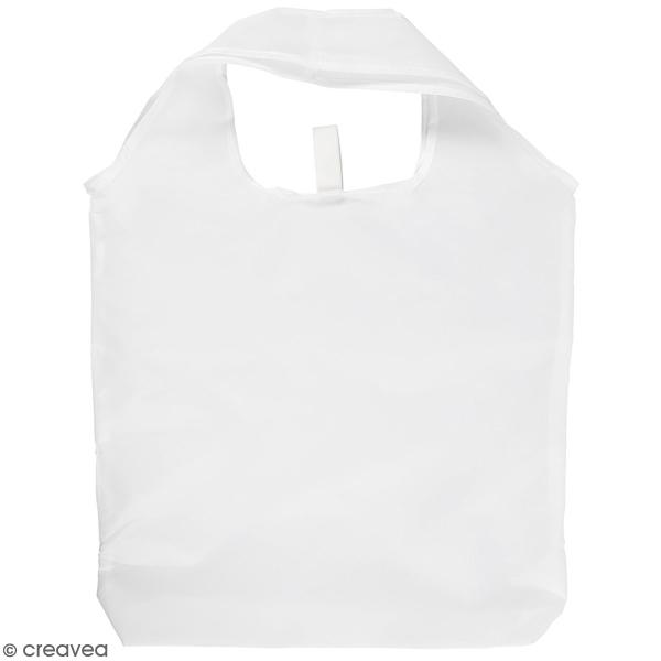Sac en polyester blanc - 37 x 37 cm - Photo n°1
