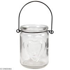 Lanternes en verre - 9 x 9,5 cm - 2 pcs