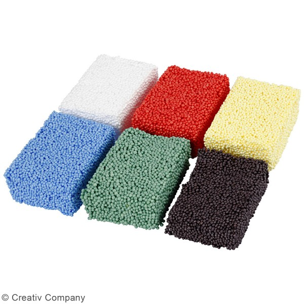 Assortiment de pâtes à modeler Soft Foam - 6 x 10 g - Photo n°2