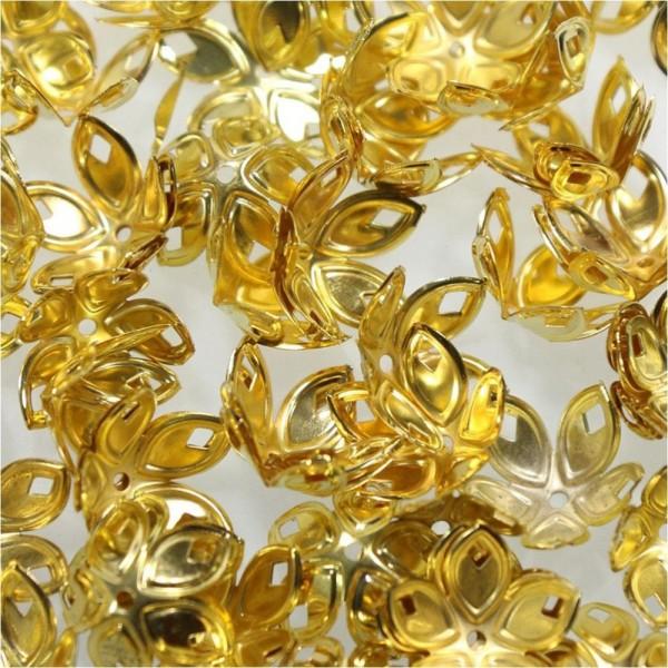 Calottes coupelles avec losanges pour perles (50 pièces) Doré - Photo n°2