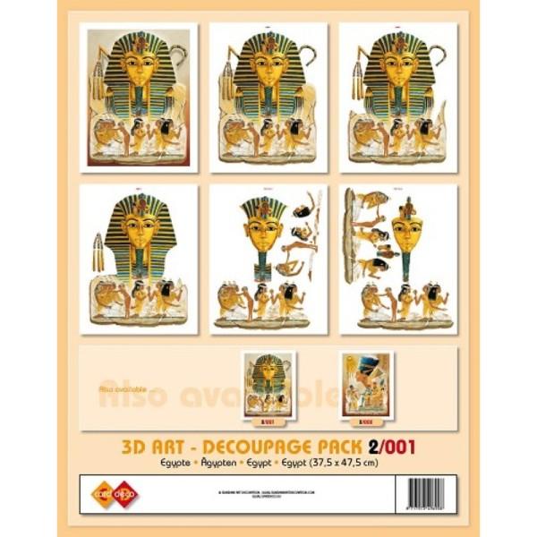 Image 3D - Kit 6 Images 3D 2-001 - 37.5 x 47.5 cm - Egypte Sphinx - Photo n°1
