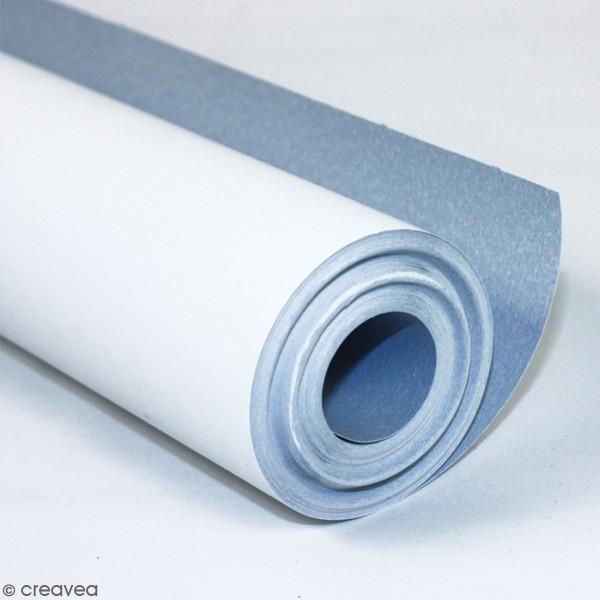Rouleau de papier à peindre 120 g - Recto Blanc Verso Bleu - 100 x 0,50 m - Photo n°1