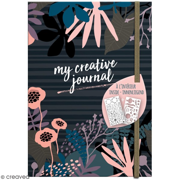 Carnet My Creative Journal Mystery Mood - Format A5 - 208 pages - Photo n°1