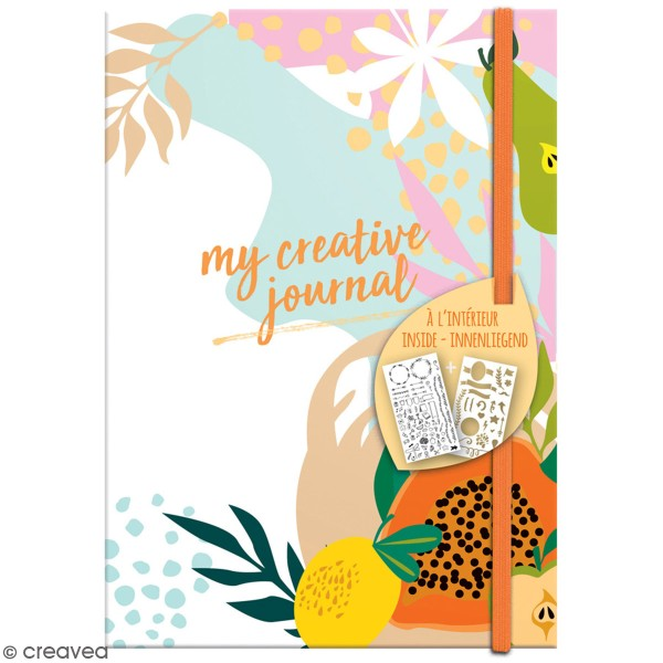 Carnet My Creative Journal Fruity Mood - Format A5 - 208 pages - Photo n°1