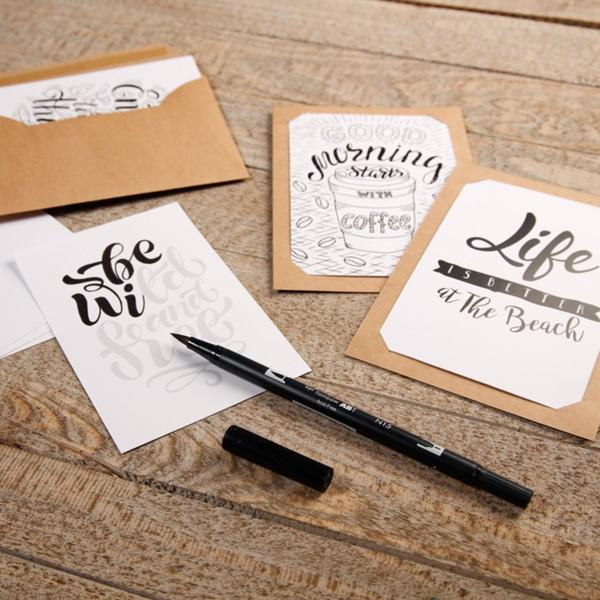 Kit Lettering pour adulte - 18 éléments - Photo n°4