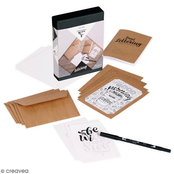 Kit Lettering pour adulte - 18 éléments - Photo n°1